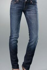 7 For All Mankind Roxanne Skinny Slimmer Jeans in Blue - Lyst