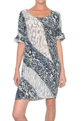 Peter Pilotto Printed Crepe De Chine Dress - Lyst