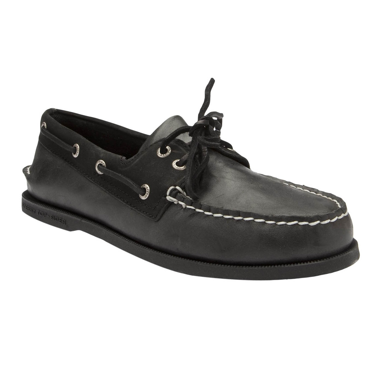 sperry top sider a o boat shoes in black for lyst