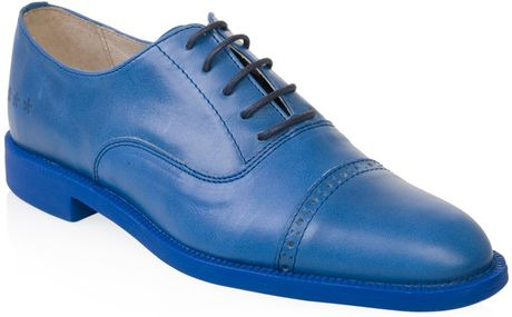 Swear Vinnie 1 Blue Leather Shoes in Blue for Men