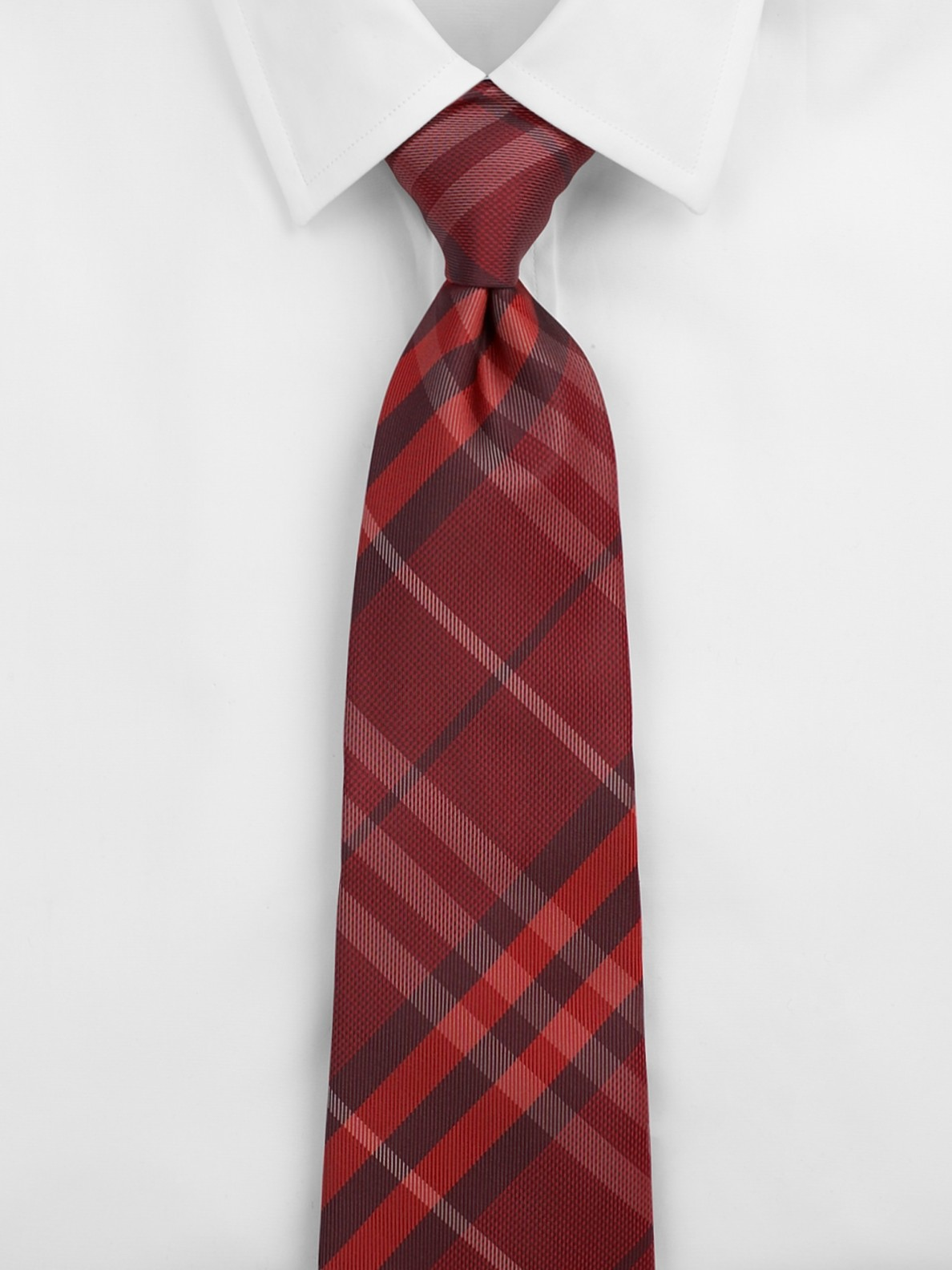 burberry check silk tie in for lyst
