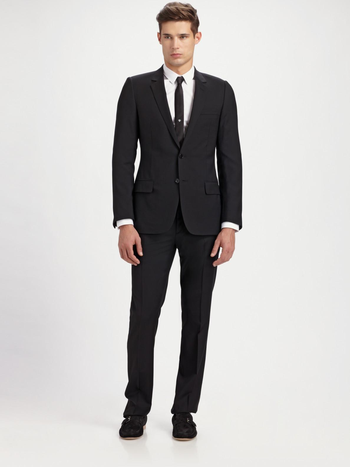 Dior Homme Classic Drop 10 Suit In Black For Men Lyst