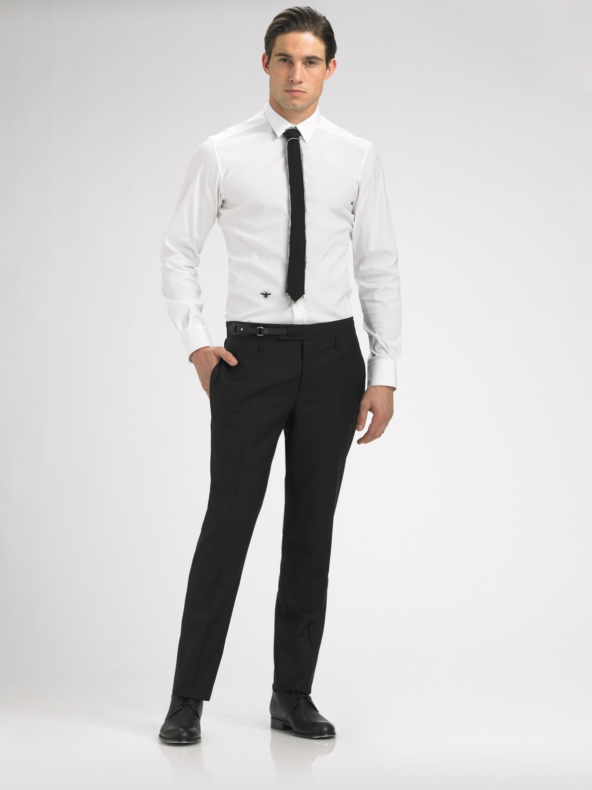 Dior homme oxford shirt in white for men lyst for White oxford shirt mens