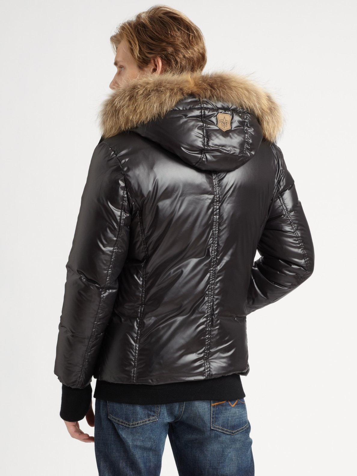 Mackage Fur-lined Down Jacket in Black for Men | Lyst