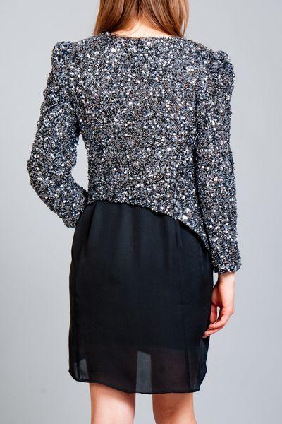 Parker Sequin Jacket in Silver | Lyst
