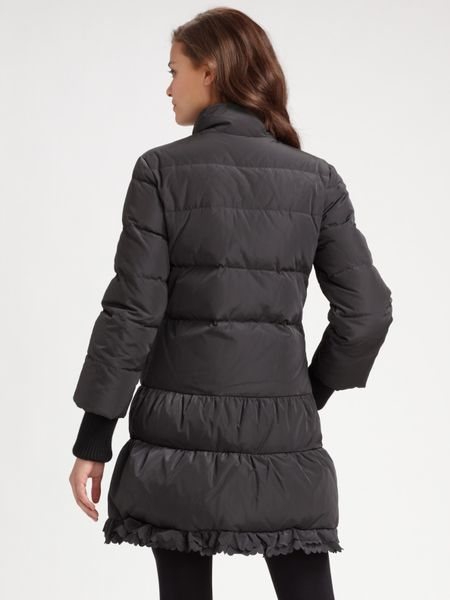 Red Valentino Long Down Jacket In Black Lyst