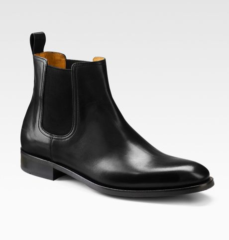saks fifth avenue chelsea boots in black for lyst