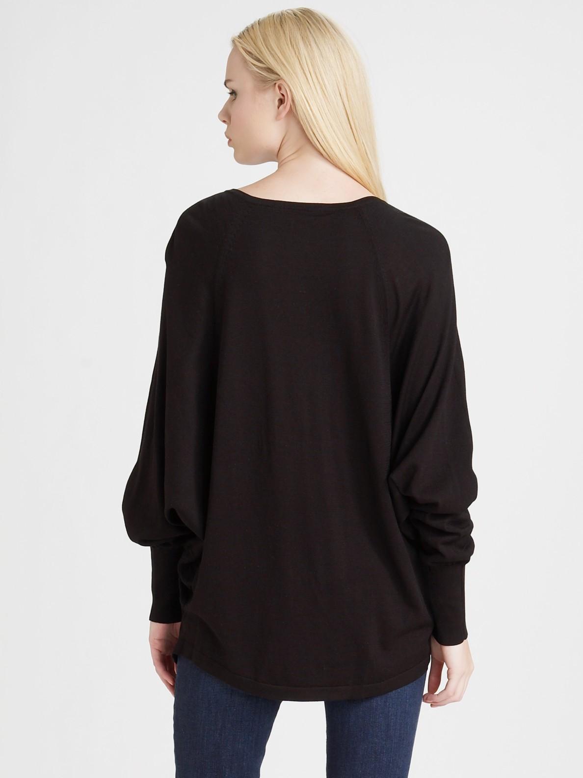 Bcbgmaxazria Boyfriend Sweater in Black | Lyst
