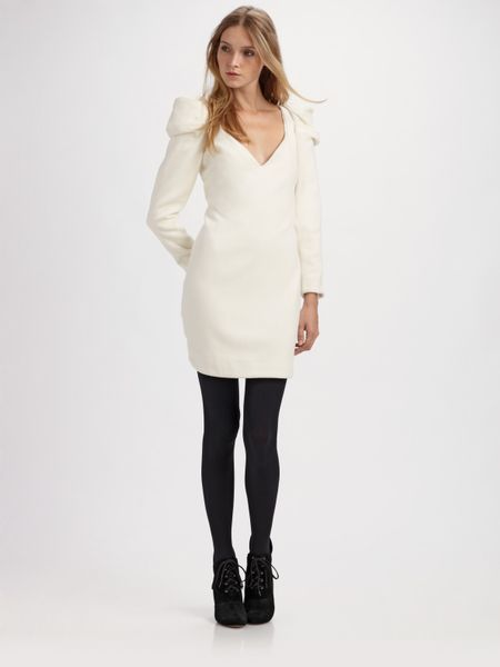 Camilla Amp Marc Juno Long Sleeve Dress In White Lyst