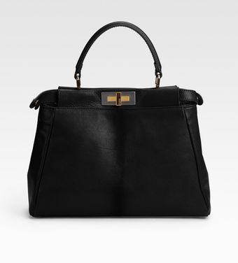 Fendi Regular Peekaboo Top Handle Bag - Lyst