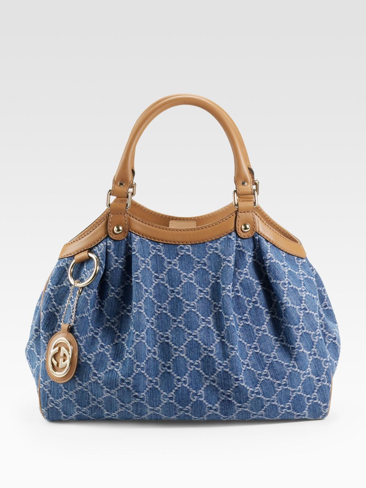 Lyst Gucci Sukey Medium Tote In Blue