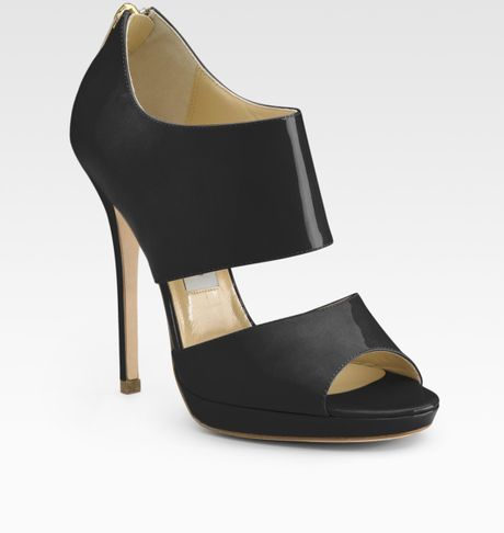 Jimmy Choo Private Patent Leather Sandals in Black (black patent) - Lyst