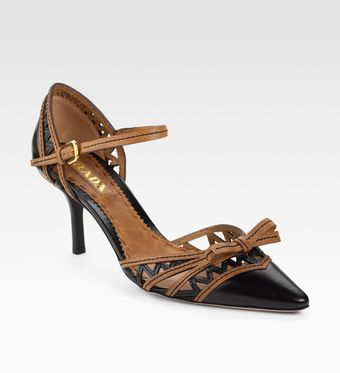 Prada Mary Jane Pumps - Lyst