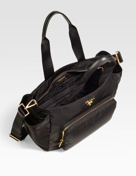 black leather prada handbag - prada-black-nylon-baby-bag-product-2-167278-121683990_large_flex.jpeg