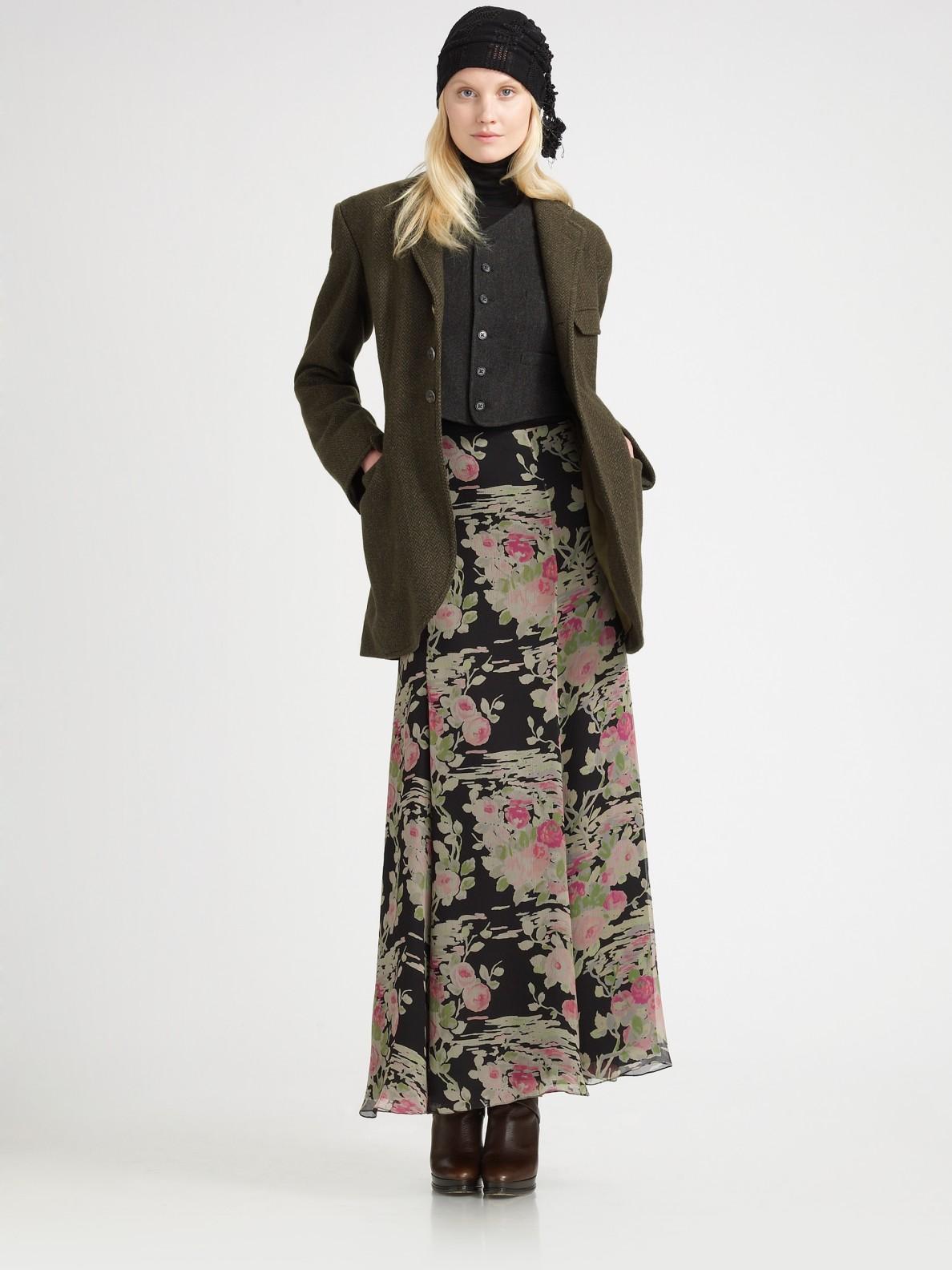 Lyst Ralph Lauren Collection Tweed Hacking Jacket In Green