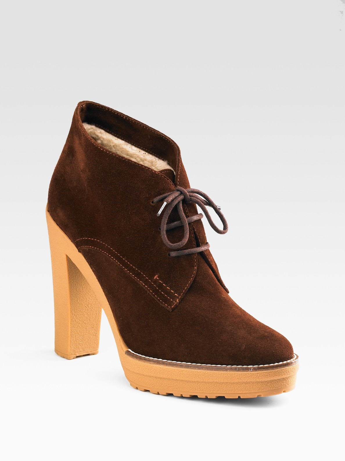 ralph collection trista lace up suede ankle boots