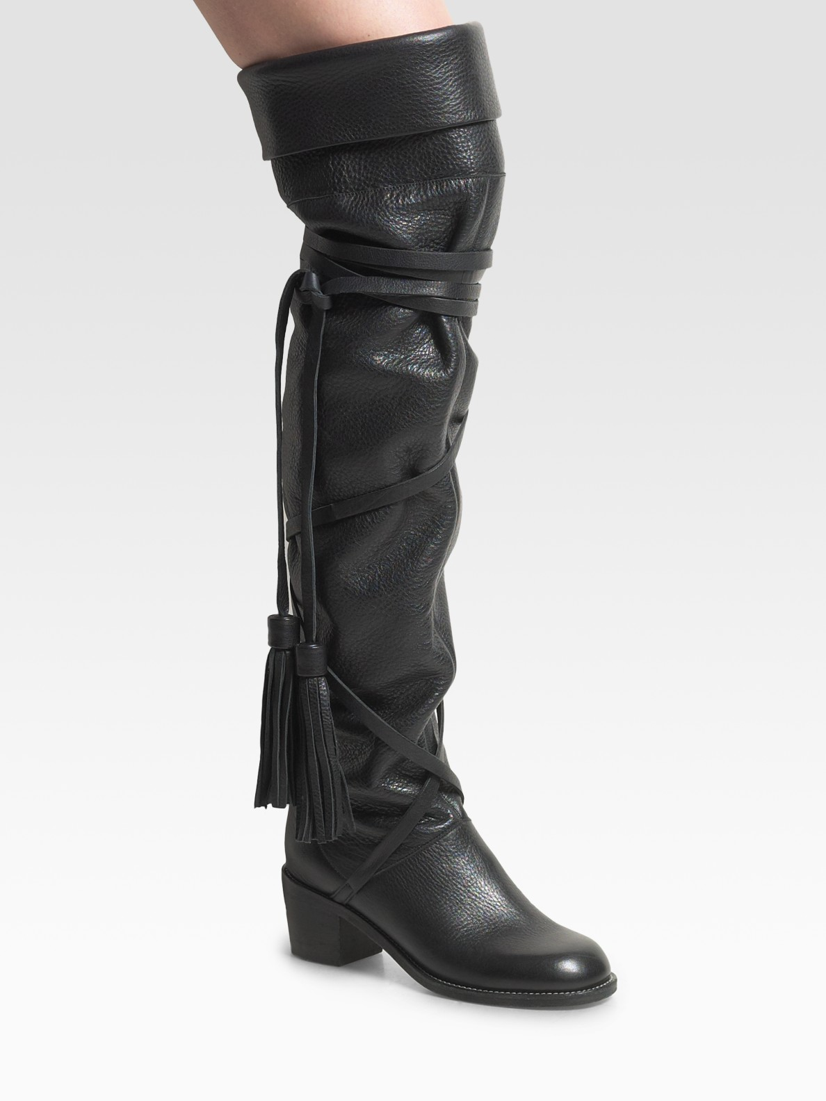 See By Chlo 233 Over The Knee Boots In Black Lyst