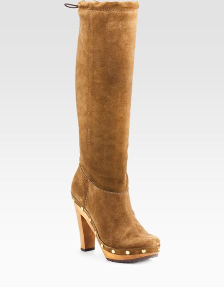 burch booker suede clog boots in brown walnut lyst