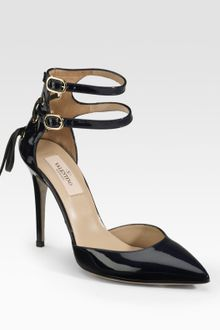 Valentino Patent Leather Point-toe Pumps - Lyst