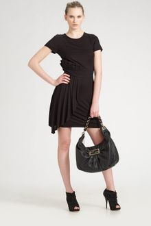 Fendi Pleated-ruffle Knit Dress - Lyst