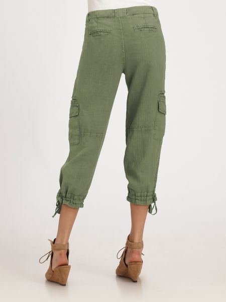 Luxury  Beige Natural Linen Color Cargo Style Pants Womens Size 2  EBay