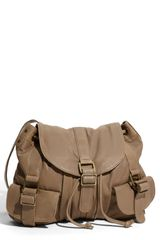 Tarnish Cargo Pocket Flap Leather Convertible Hobo - Lyst