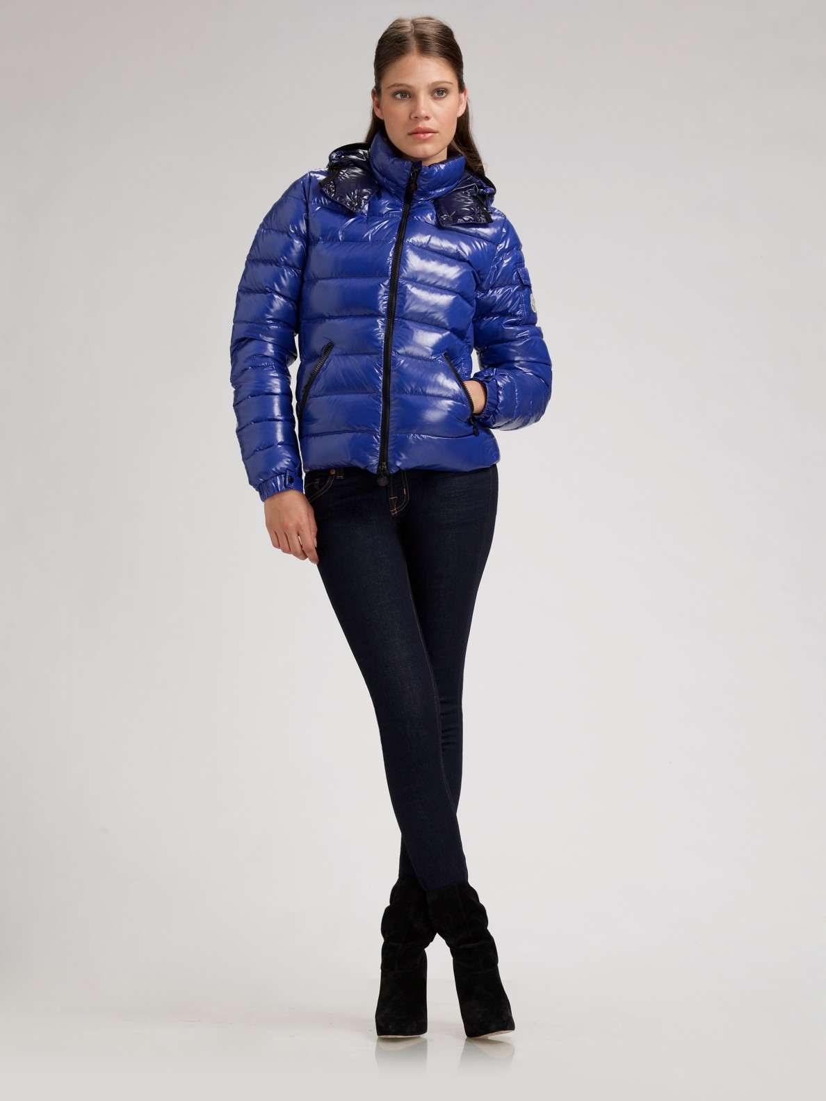 d353fb981 Lyst - Moncler Bady Hooded Down Jacket in Blue