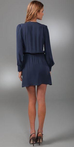 Parker Wrap Dress In Blue Navy Lyst