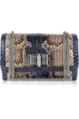 Christian Louboutin Sweet Charity Small Python Bag - Lyst