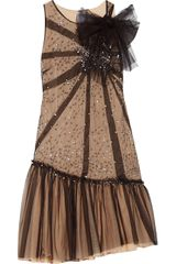 RED Valentino Sequin-embellished Tulle Dress