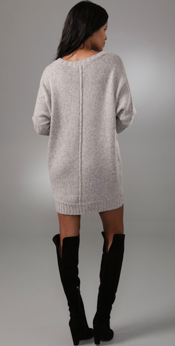 Lyst Bcbgmaxazria Oversized Sweater Dress In Gray