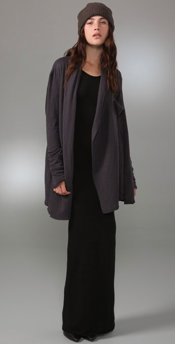 Lyst T By Alexander Wang Fitted Long Sleeve Maxi Dress