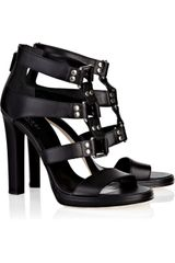 Gucci Leather Studded Sandals - Lyst