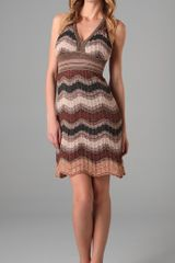M Missoni Lurex Wave Halter Dress - Lyst