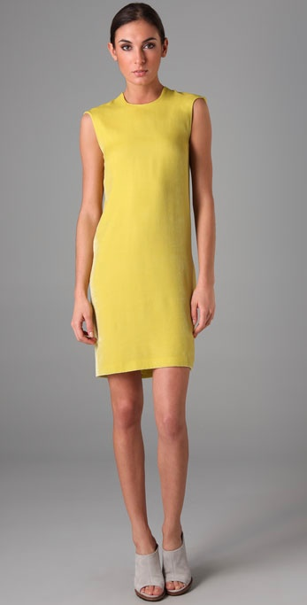 Yellow dress calvin klein