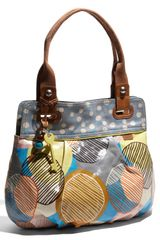 Fossil Key Per Printed Coated Canvas Shopper - Lyst