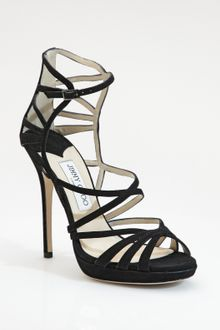 Jimmy Choo Ontario Strappy Suede Sandals - Lyst