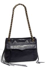 Rebecca Minkoff Swing Double Chain Leather Shoulder Bag - Lyst