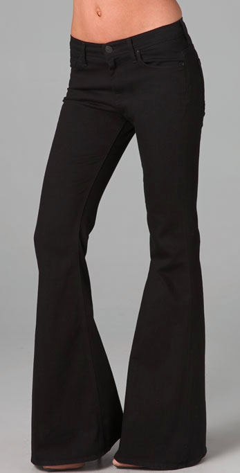 7 for all mankind Bell Bottom Jeans in Black | Lyst