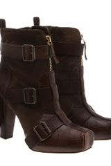 Alexander McQueen Ankle Boot with Buckles