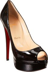 Christian Louboutin Lady Peep in Black - Lyst