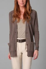 See By Chloé Long Sleeve Cardigan - Lyst