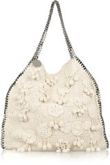 Stella Mccartney Falabella Large Crochet Bag in Beige (cream) - Lyst