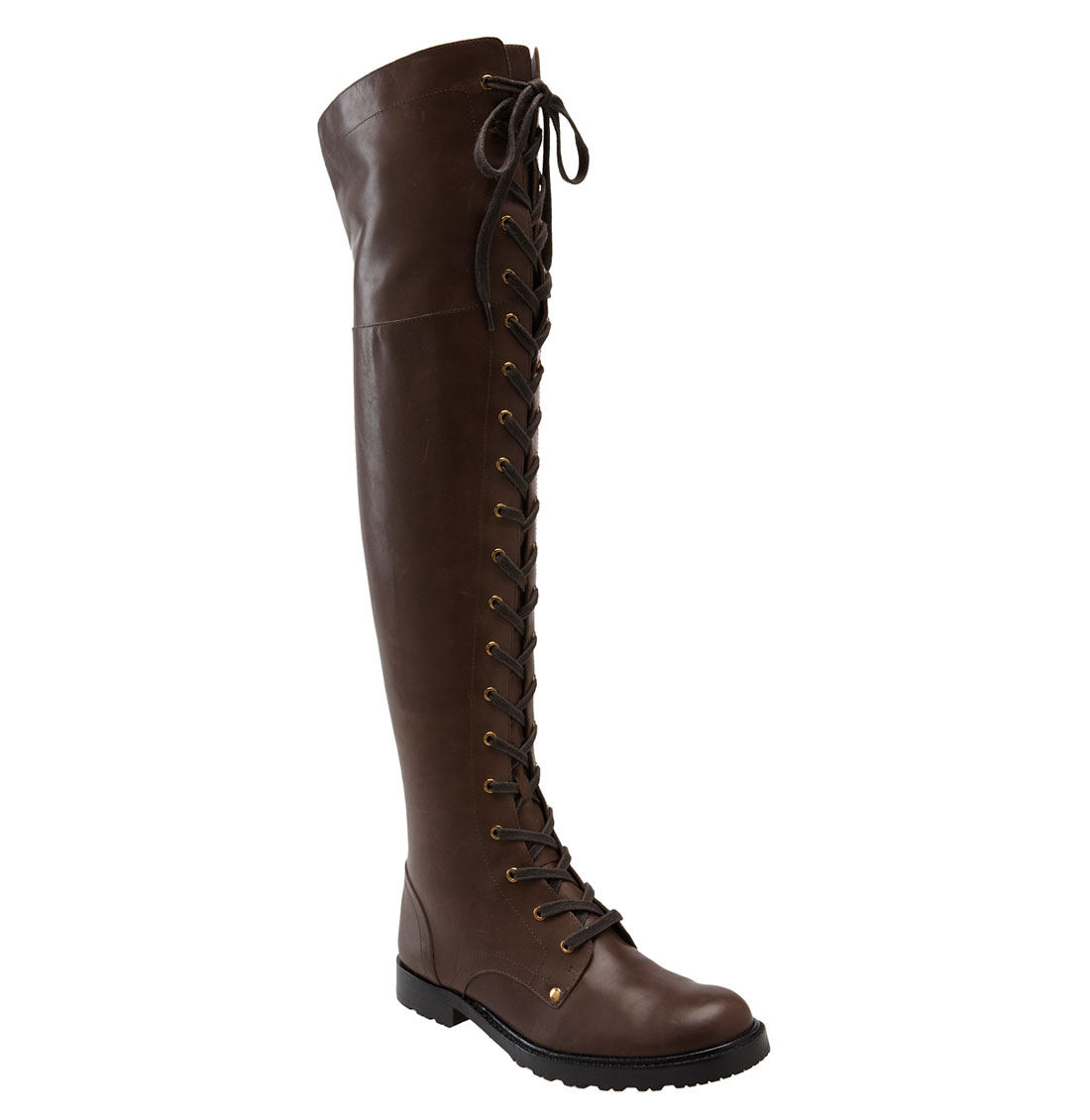 via spiga nathan the knee boot in brown taupe waxy