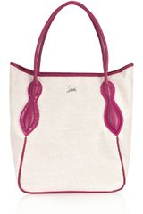 Christian Louboutin Suola Canvas and Leather Tote - Lyst
