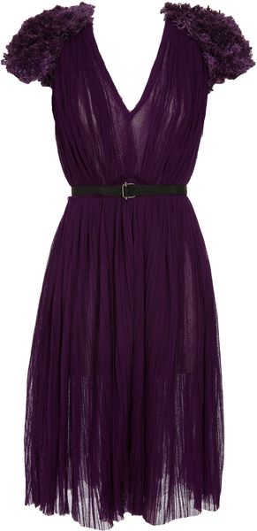 Bottega Veneta Dress with Embroidered Shoulders - Lyst