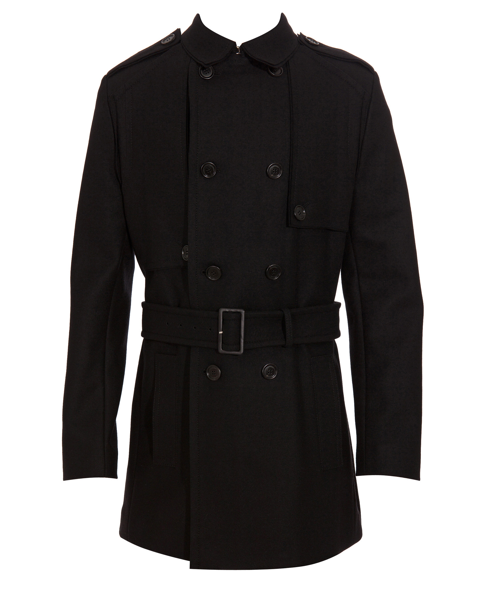 dior homme wool trench coat in black for men lyst. Black Bedroom Furniture Sets. Home Design Ideas
