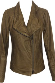 Vince Soft Leather Biker Jacket - Lyst