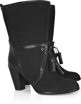 Marc By Marc Jacobs Canvas and Leather Boots - Lyst