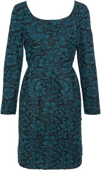 Erdem Lace Dress with Scoop Neck - Lyst